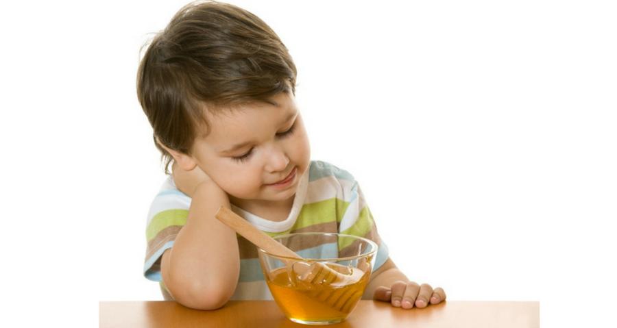 mật ong bạc hà cho trẻ em