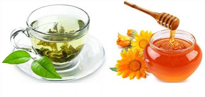 Mật ong và trà xanh