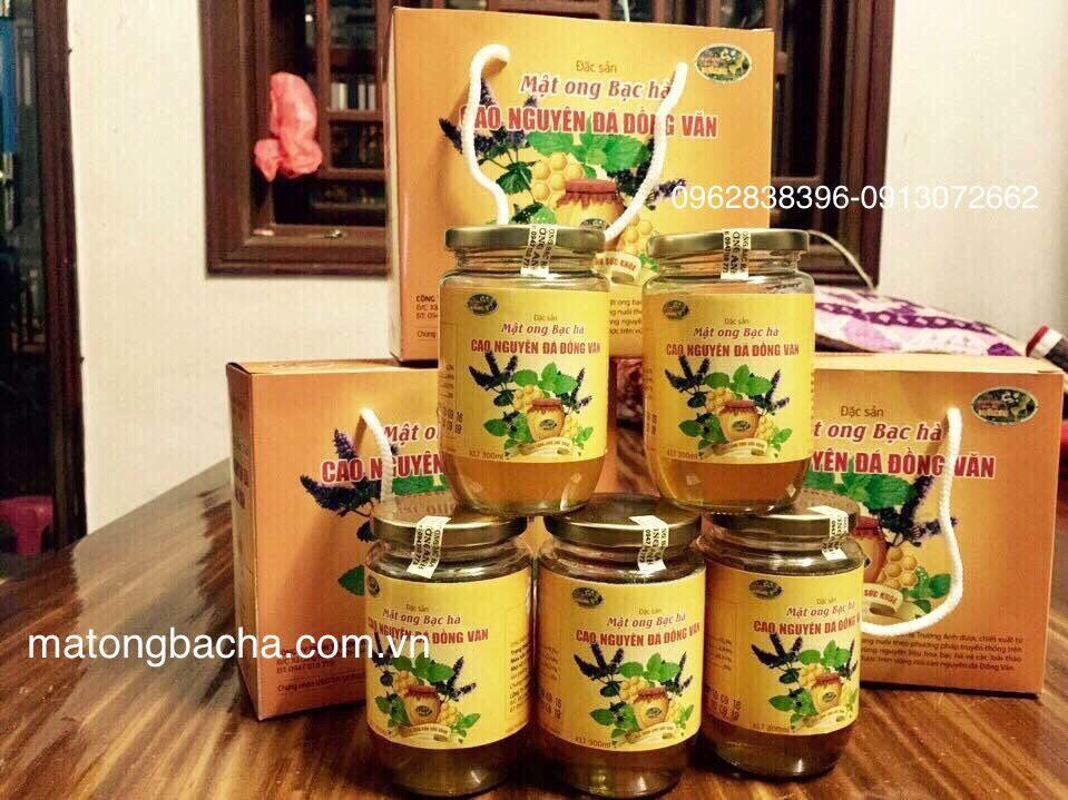 Sản phẩm mật ong bạc hà hũ thủy tinh