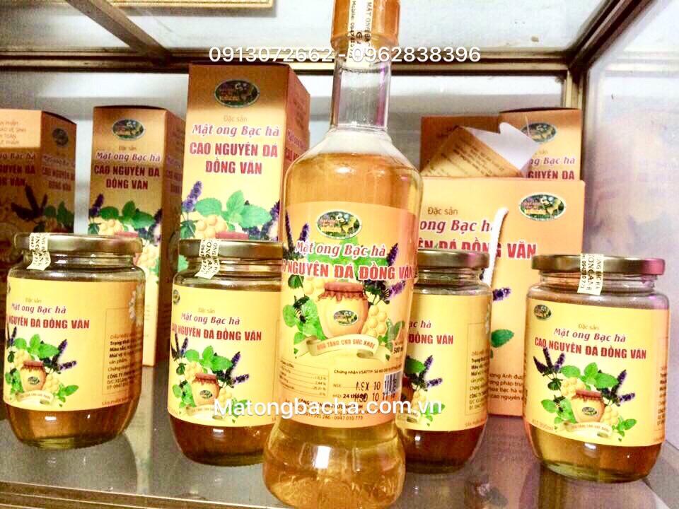 Sản phẩm mật ong bạc hà của Công ty CP Tam thất Hà Giang.