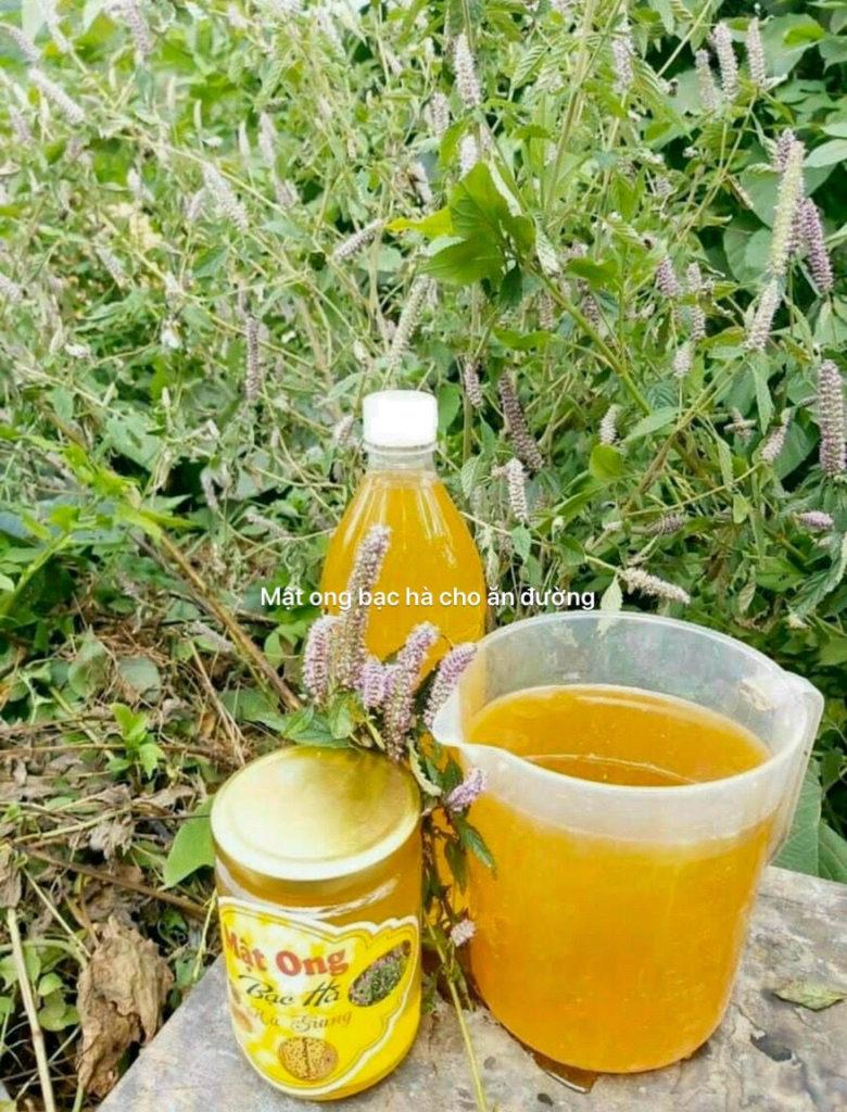 Mật ong bạc hà nuôi bằng đường có màu đục, không thơm, vị ngọt khé.